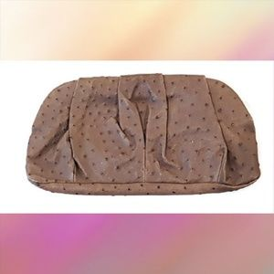 Club Monaco Leather Magnetic Clutch Purse Bag